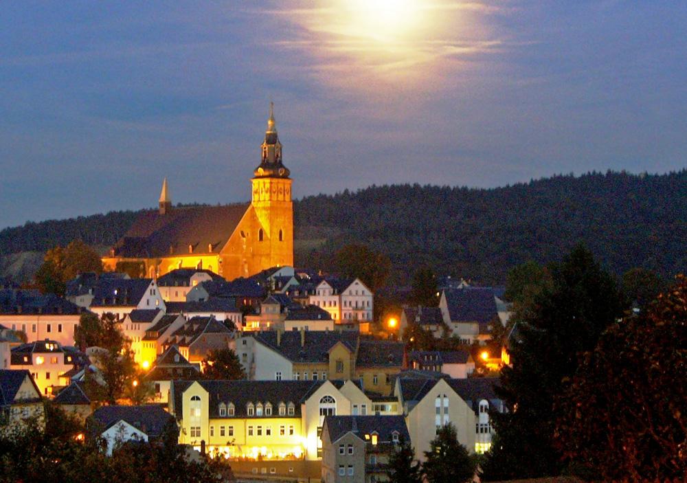 Traumhafter Blick in der Advent und Weihnachtszeit vom Berghotel Steiger